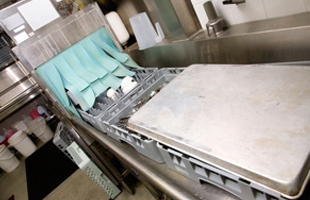 Commercial kitchen washing system