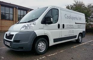 Coolsparks white van